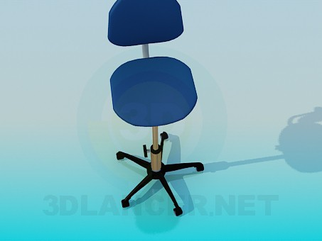 3d model Chair with rising fixed leg - preview