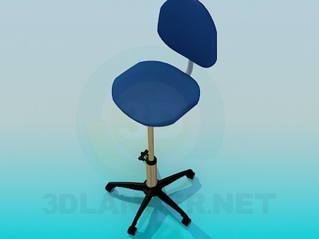 modelo 3D Silla con pata fija aumento - escuchar