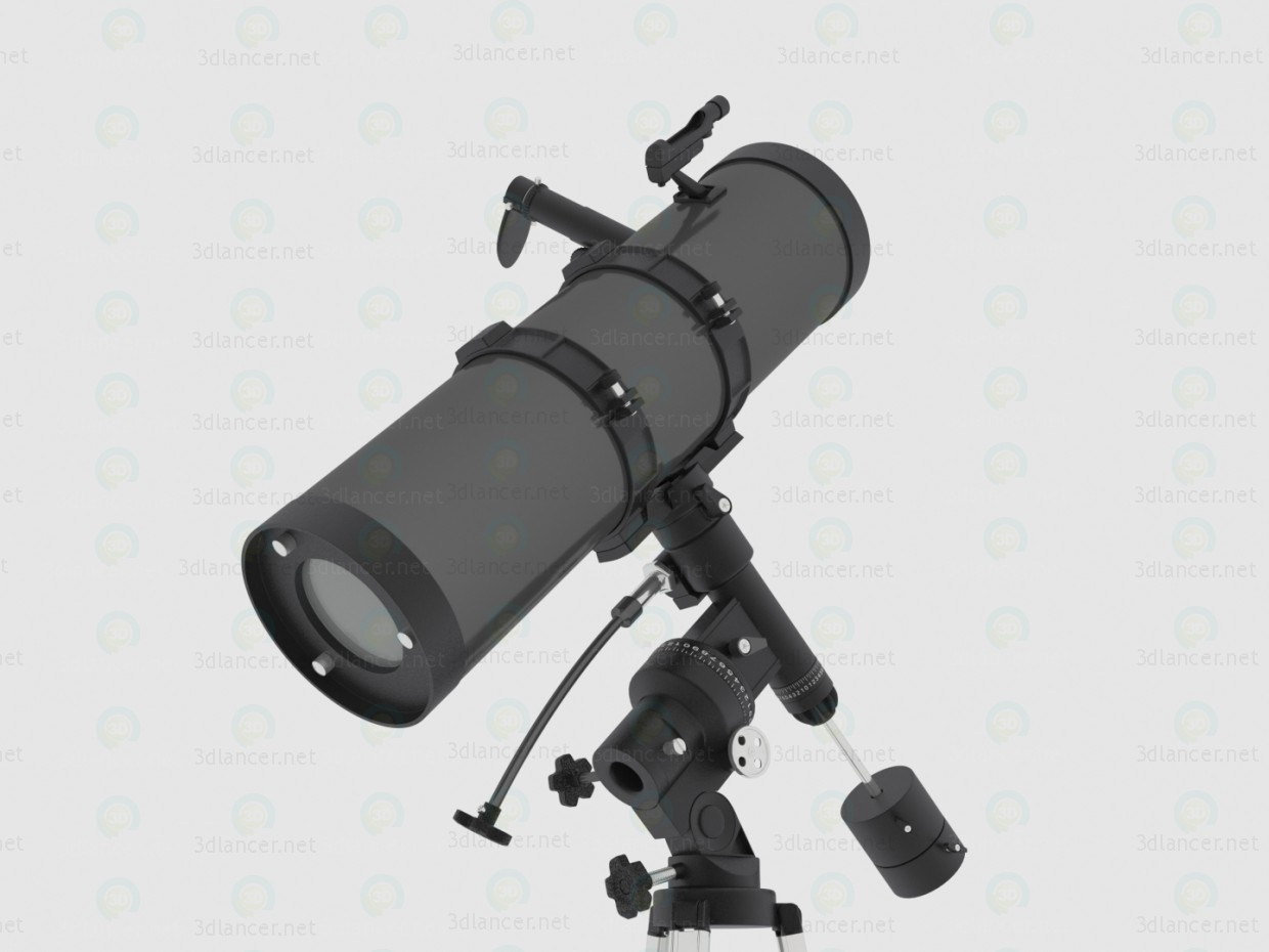 3d Telescope Bresser Pollux 150/1400 EQ2 model buy - render