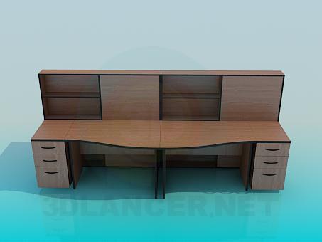 3d моделирование Офисные столы модель скачать бесплатно