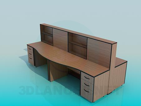 3d model office Tables - preview