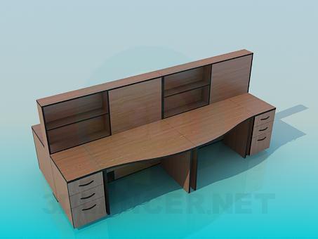 modelo 3D Mesas de oficina - escuchar