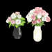 3d model two rose bouquets in vases - preview