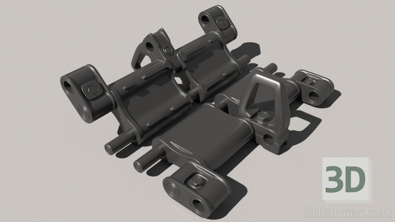 descarga gratuita de 3D modelado modelo Sobre orugas pista t-72-80-90