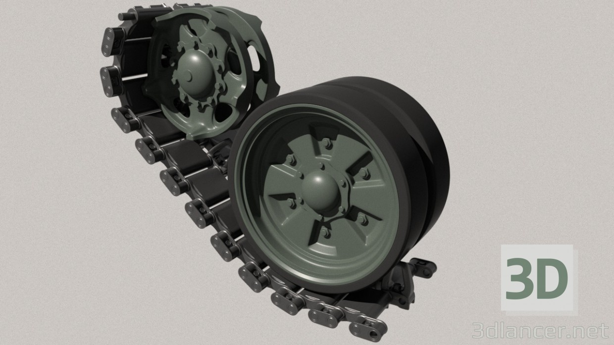 3d model Crawler track t-72-80-90 - preview