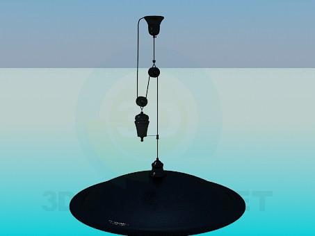 3d модель Люстра с регулируемой высотой подвеса в форме блюда – превью
