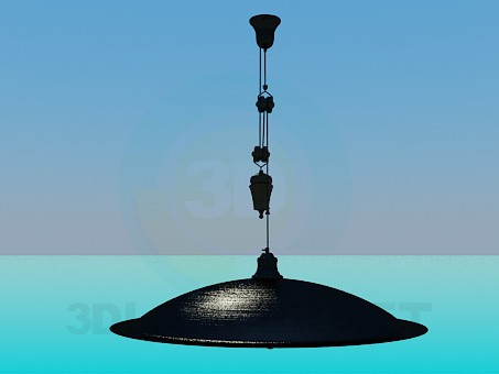 3d model Chandelier with adjustable height suspension in the form of plate - preview