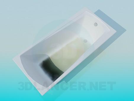 3d модель Трапецевидная ванна – превью