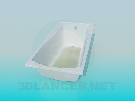3d model A trapezoidal bath - preview
