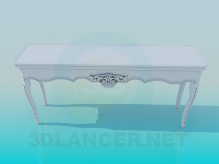 3d модель Приставка стол – превью