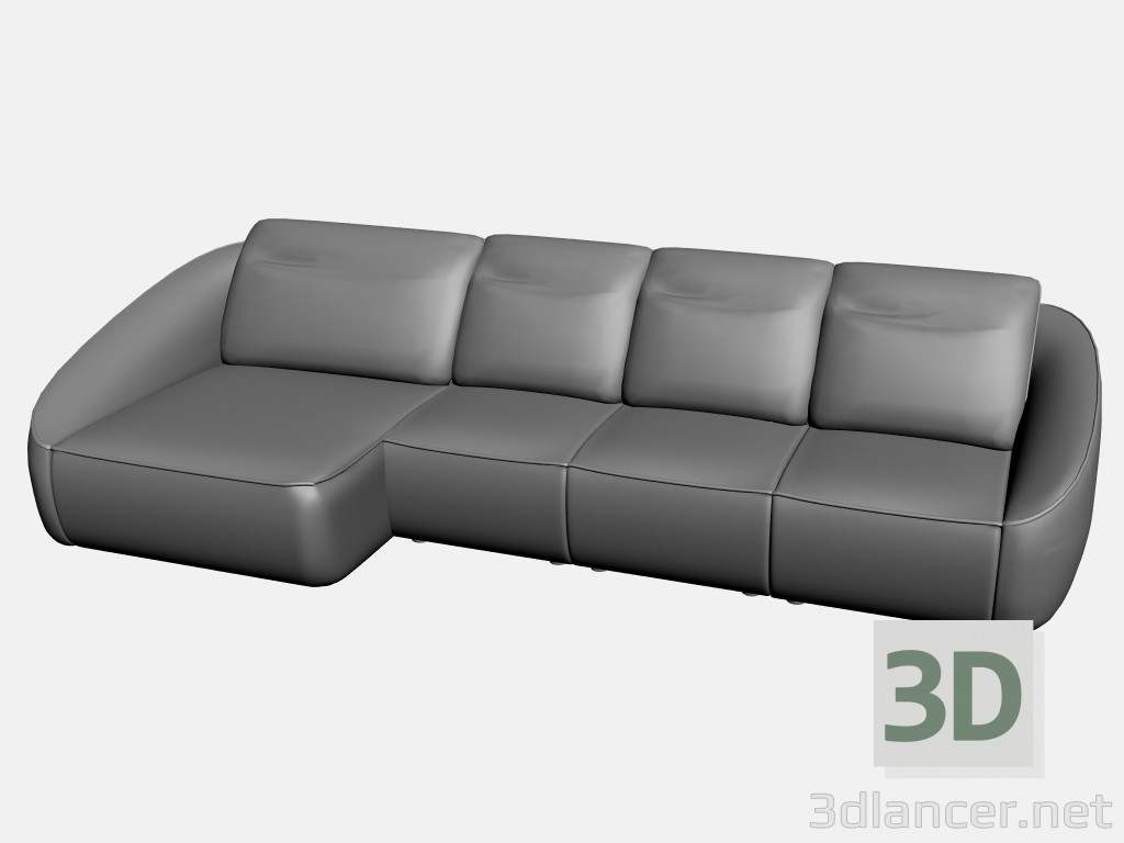 3d model Sofa Rim (option 1) - preview