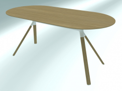 Table FOURCHE ovale (P127 160X80)