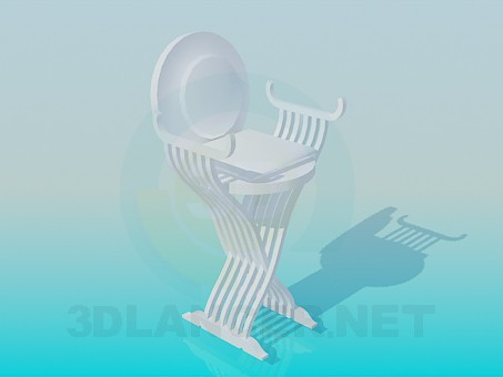 3d model High chair with round headboard - preview
