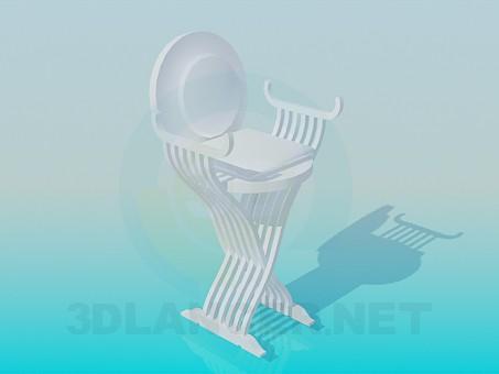3d модель Высокий стул с круглой спинкой – превью