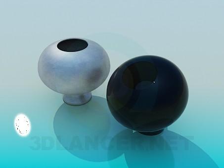 3d modeling Round vases in set model free download