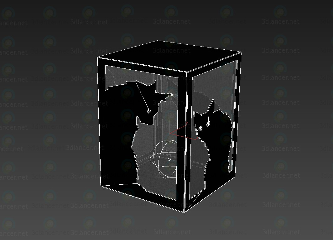 3d model Lamp decorative Cats on Halloween - preview