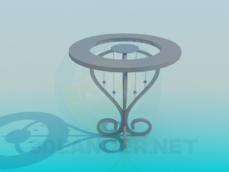 3d model Glass coffe table - preview