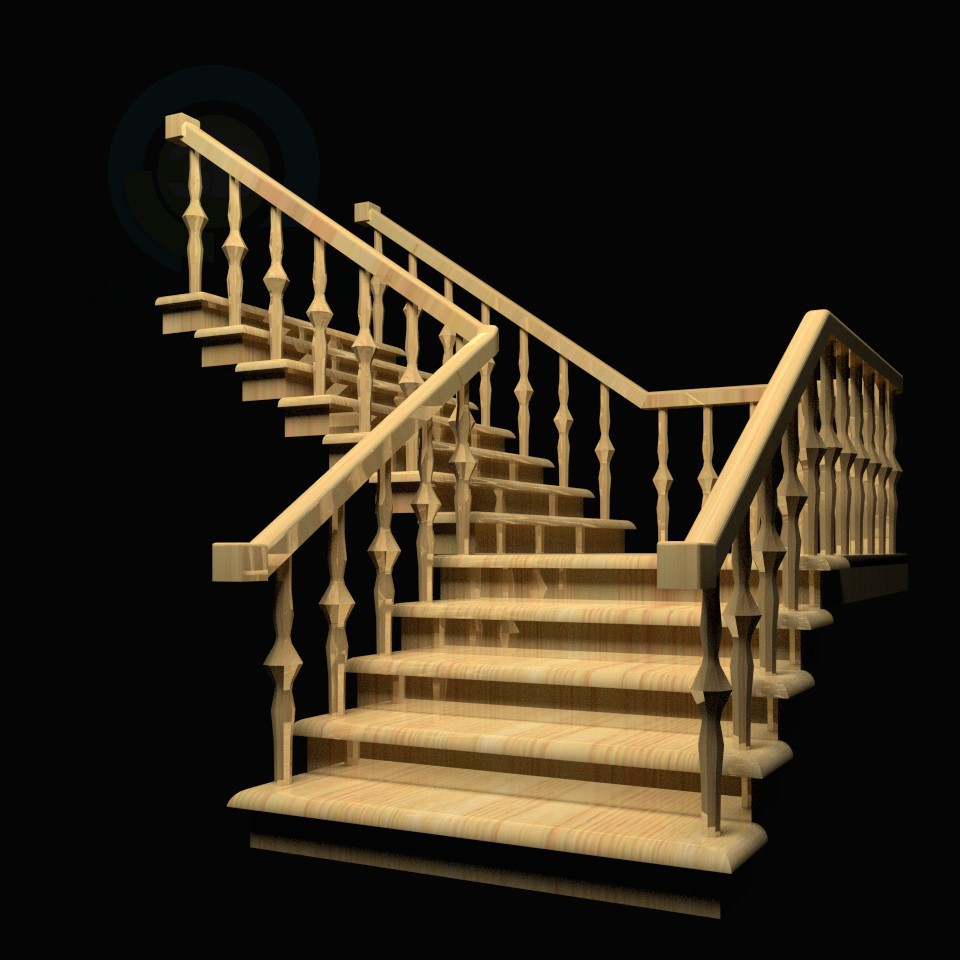 3d model Staircase - preview