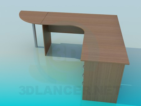 3d model Office desk corner - preview