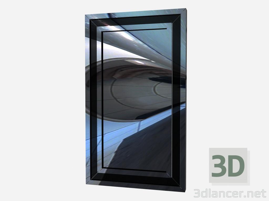 3d model Espejo de pared en metal marco espejo Z01 - vista previa