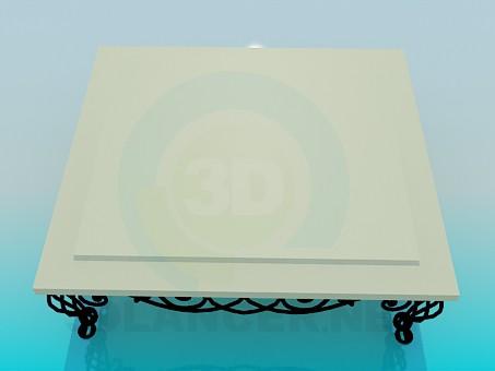 3d модель Столик журнальный с коваными ножками – превью