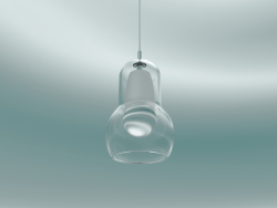 Pendant lamp Bulb (SR1, Ø11cm, H 16.3cm, Clear glass with clear PVC cord)