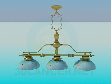 3d model Chandelier with ceramic ceiling paintings - preview