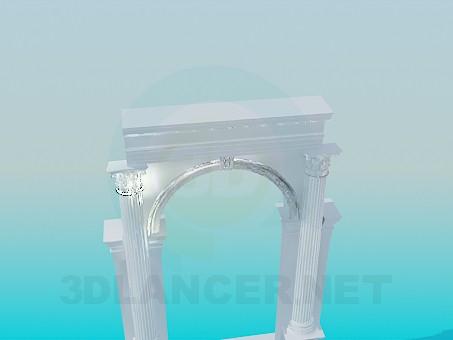 3d модель Арка с колоннами – превью