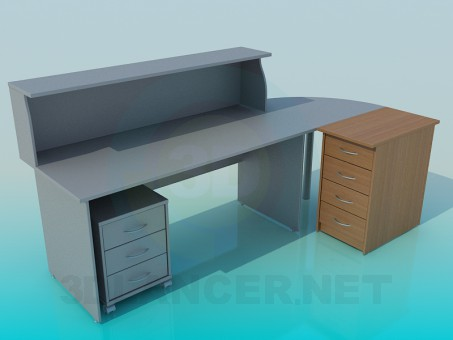 3d modeling Reception office model free download