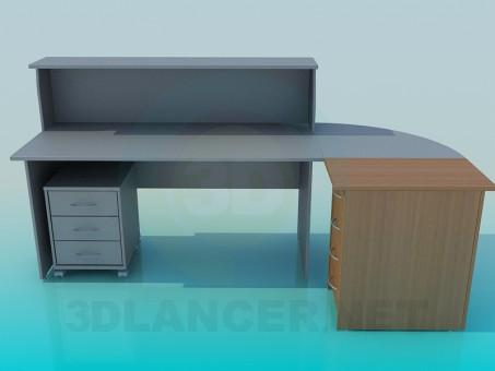 3d модель Ресепшн офисный – превью
