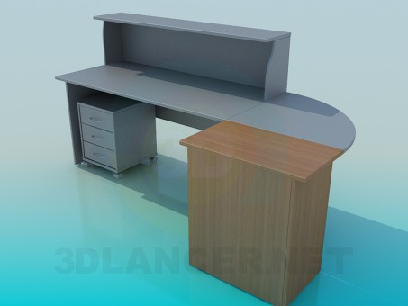 3d model Reception office - preview