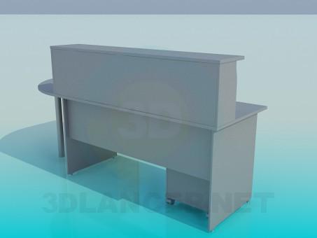 modelo 3D Oficina de recepción - escuchar