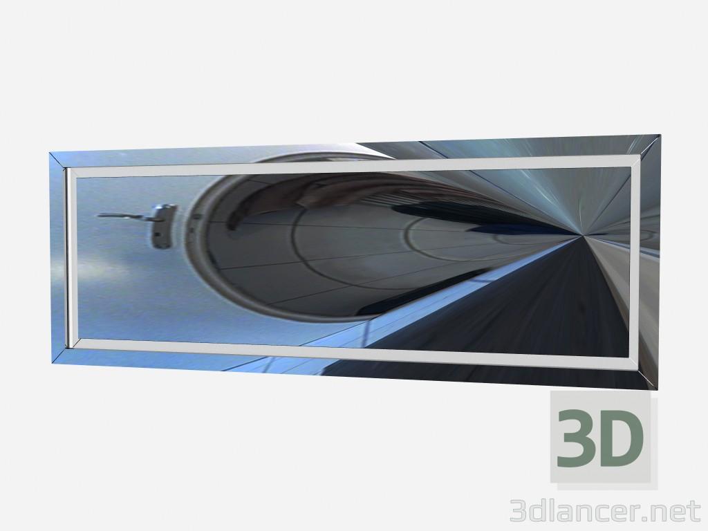 3d model Rectangular horizontal mirror Art Deco Mirror Z02 - preview