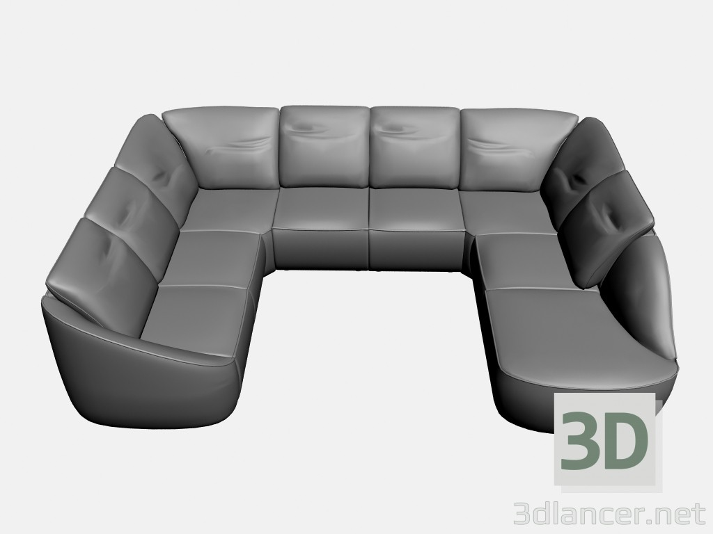 3d model Sofa Rim (option 4) - preview