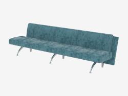 Canapé-lit long triple