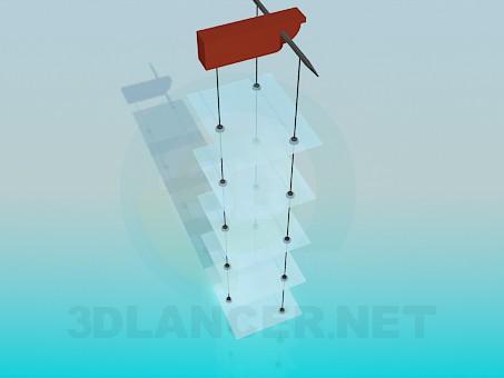3d model Hanging glass shelves - preview