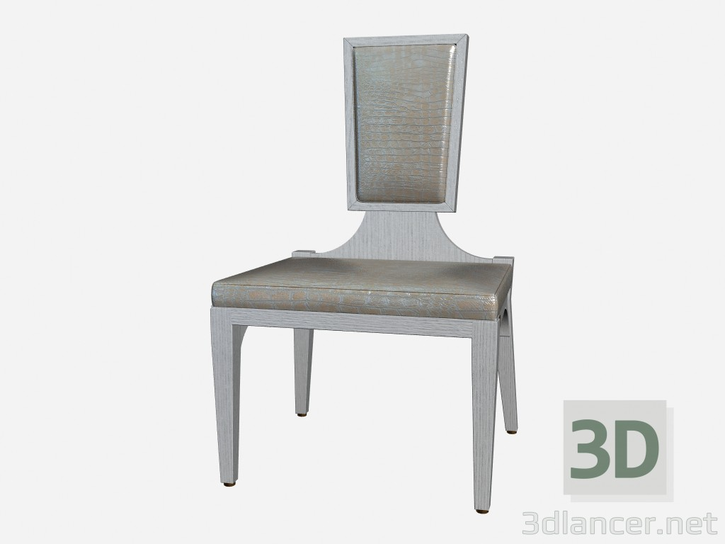 3d model Chair in leather upholstery in the art deco style of the Monk - preview