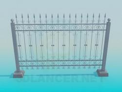 forgé clôture