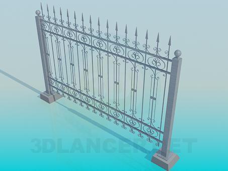 3d модель Забор кованый – превью