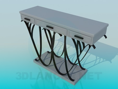 3d модель Тумба с ковкой – превью