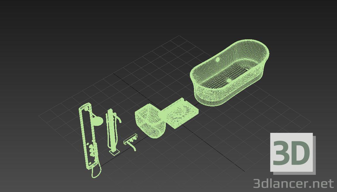 3d model Bathroom set - preview