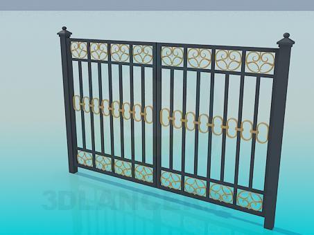 modelo 3D puerta forjada - escuchar