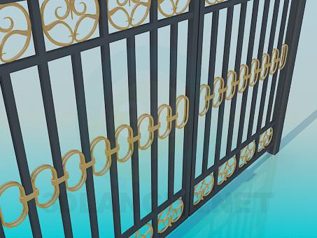 3d model Forged gate - preview