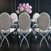 3d Furniture set EURO-HOME, large table 6139 + chair beige 7354 model buy - render