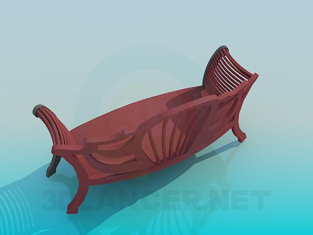 3d model Upholstered bench for hallway - preview
