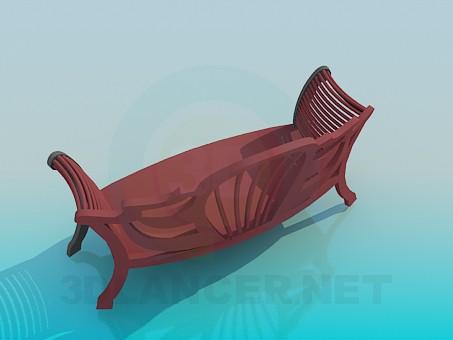 3d модель Мягкая скамья для прихожей – превью