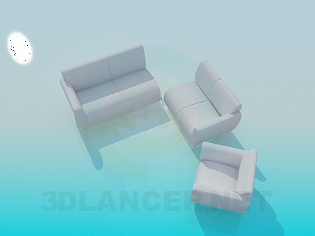 3d model Sofa docking - preview