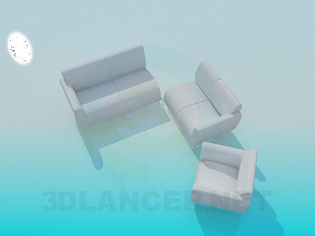 3d моделювання Диван стикувальний модель завантажити безкоштовно