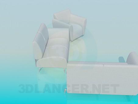 3d модель Диван стыковочный – превью