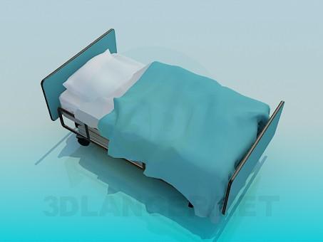 3d modeling Hospital bed model free download